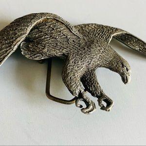 Vtg  1978 pewter eagle belt buckle.